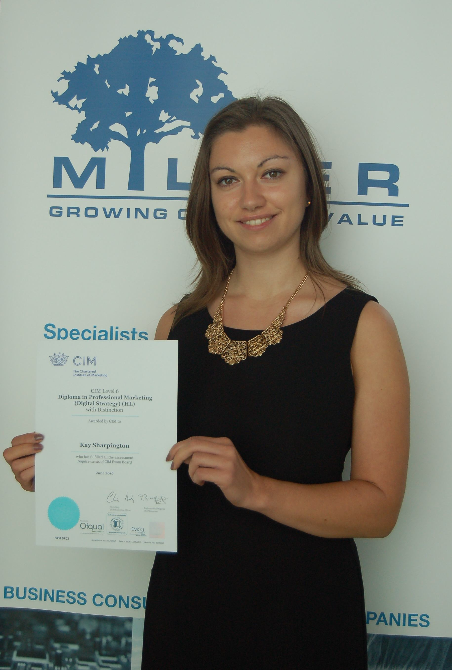 Impressive Marks For Kay In Chartered Institute Of Marketing Diploma